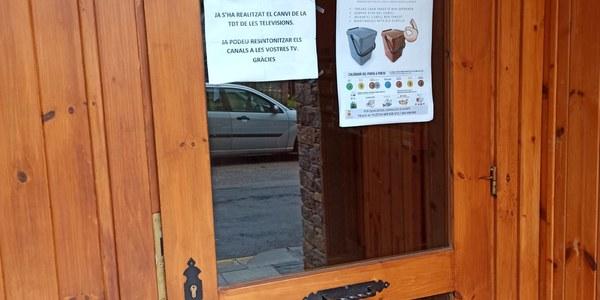RECORDATORI PEL BON FUNCIONAMENT DEL PORTA A PORTA