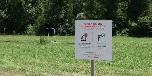 Retirada de les àrees d'emergència de la Matraca de Sort i del camp de futbol de Rialp