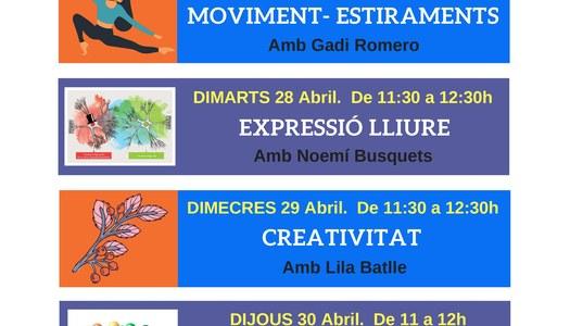 Programació d'activitats on-line del 27 al 30 d'abril de l'Associació Salut Mental Pallars