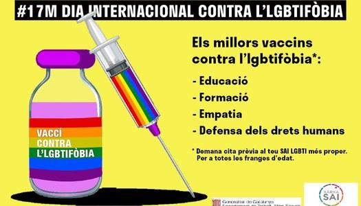 Dia internacional contra l'homofòbia, 17 de maig.