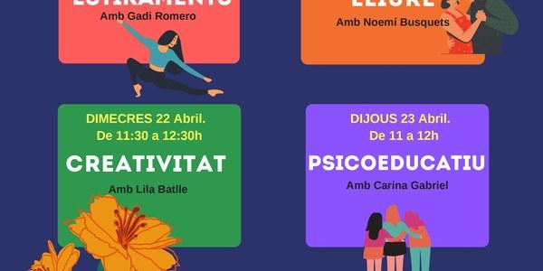 Programació d'activitats on-line Sant Jordi de l'Associació Salut Mental Pallars
