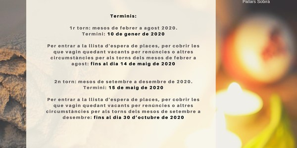 Cartell Termalisme IMSERSO 2020